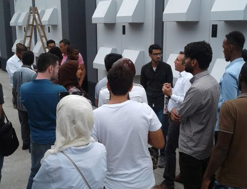 Visite d'étudiants étrangers dans notre usine